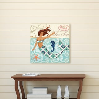 Portfolio Canvas Décor Mermaid Seahorse by Jennifer Brinley Wrapped Canvas Wall Art