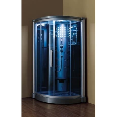 Mesa 801L Corner Steam Shower (1-Person Corner Walk In St...
