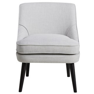 Grey Fabric Upholstered Mid-century Style Accent Chair