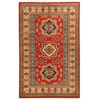 Handmade Herat Oriental Afghan Tribal Kazak Wool Rug - 5' x 7'11 (Afghanistan)