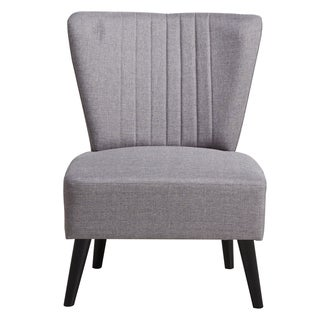 Purple Channeled Back Armless Accent Chair