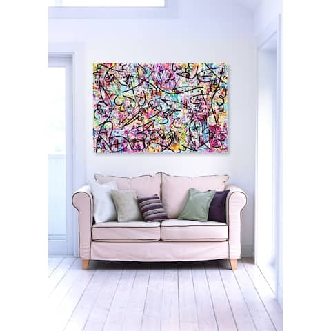 Oliver Gal 'Impii Autem Corruent by Tiago Magro' Abstract Wall Art Canvas Print - Pink, Black