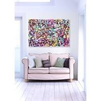 Oliver Gal 'Impii Autem Corruent by Tiago Magro' Canvas Art - Pink