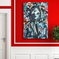 Oliver Gal  'City by Katy Hirschfeld' Fashion Wall Art Print on Premium Canvas