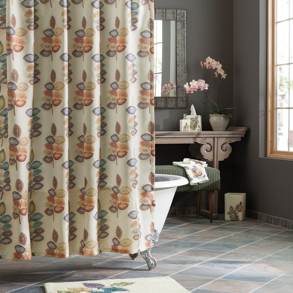 Croscill Mosaic Leaves Shower Curtain