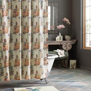 Croscill Mosaic Leaves Shower Curtain