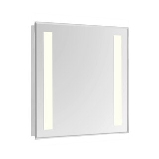 "2 Sides LED Hardwired Mirror Rectangle W32""H40"" Dimmable 5000K"