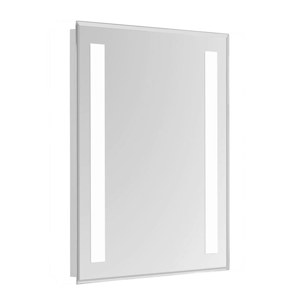 """2 Sides LED Hardwired Mirror Rectangle W20""""H40"""" Dimmable 5000K"""