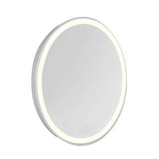 "LED Edge Hardwired Mirror Oval W21""H28"" Dimmable 3000K"