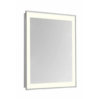 "4 Sides LED Edge Hardwired Mirror Rectangle W20""H30"" Dimmable 3000K"
