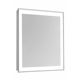 "4 Sides LED Edge Hardwired Mirror Rectangle W32""H40"" Dimmable 5000K"