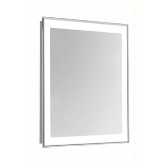 "4 Sides LED Edge Hardwired Mirror Rectangle W20""H40"" Dimmable 5000K"