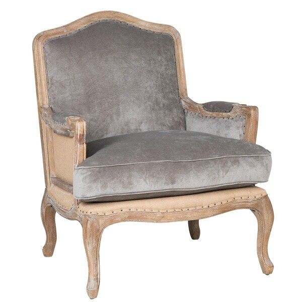 Brittani Upholstered Grey Arm Chair By Kosas Home