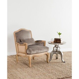Brittani Upholstered Grey Arm Chair by Kosas Home - 38Hx29Wx31D
