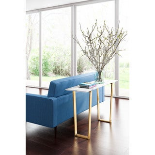 Zuo Atlas Stone and Gold Console Table