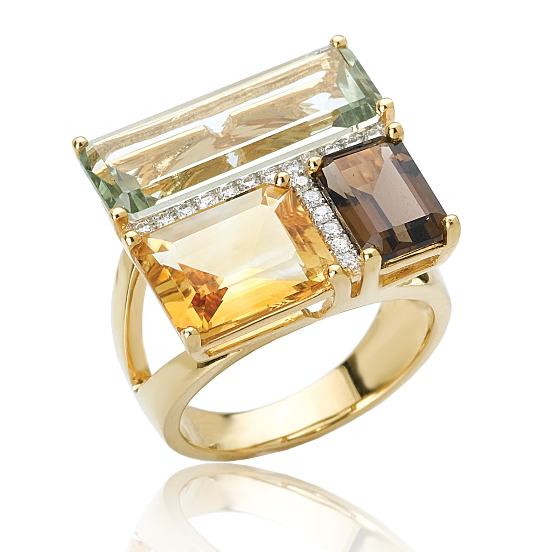 Square Gemstone Ring 925 Sterling Silver Citrine Ring Square Emerald Cut Solitaire Sz 5 6 7 8 9 10 11 12