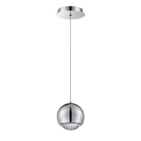 Spumante Series 1-light Chrome Metal and Glass Pendant