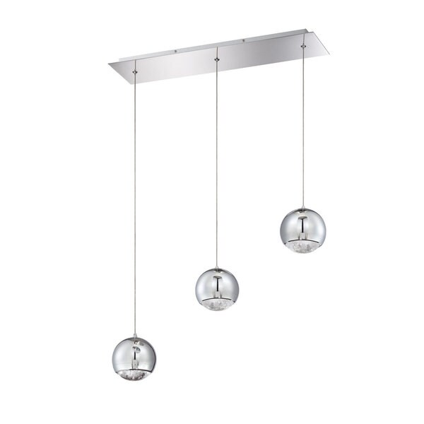 Spumante Series Chrome 3-light Pendant Bar