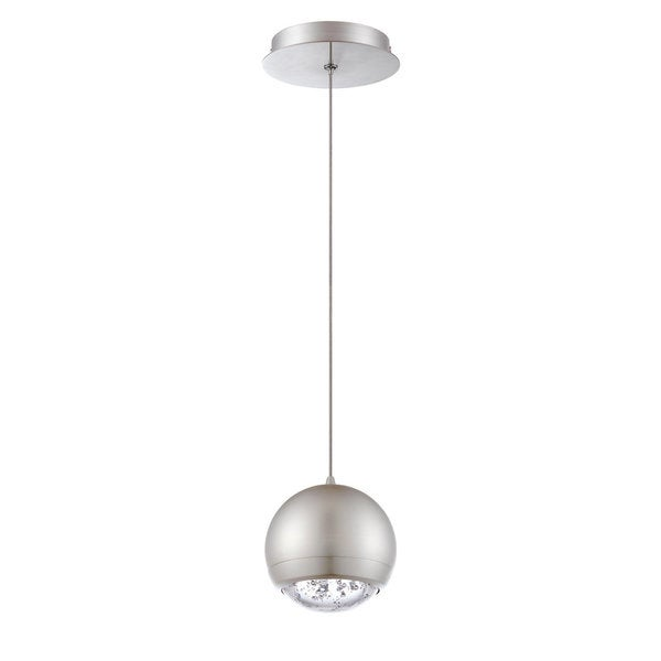 Spumante Series Satin Nickel 1-light Pendant