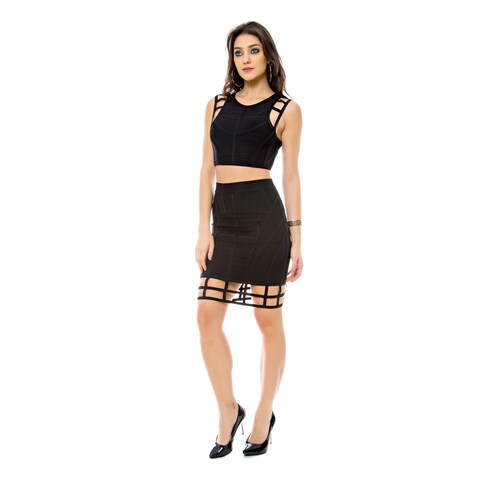 Sara Boo Cutout Crop Top