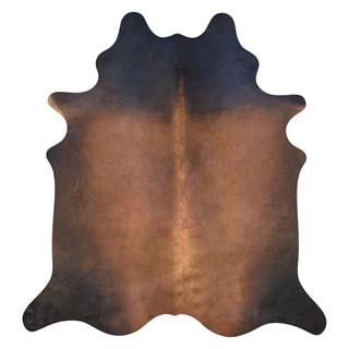Dark Brown Cowhide Rug (6'x7')