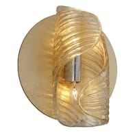 Corbett Lighting Flaunt 2-light Gold Leaf Wall Sconce with Polished Stainless Accents
