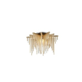 Corbett Lighting Theory LED Gold Leaf Semi-Flush with Polished Stainless Accents