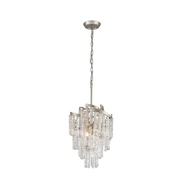 Corbett Lighting Mont Blanc 7-light Modern Silver Leaf Chandelier