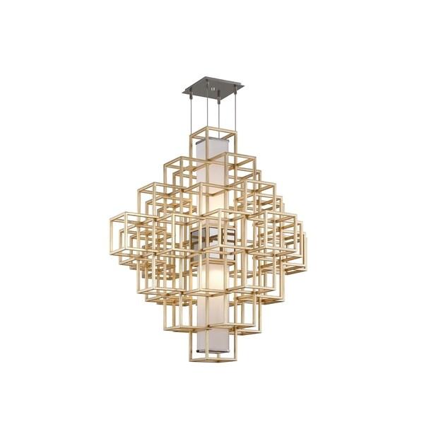 Corbett Lighting Metropolis 2-light LED Gold Leaf 45-inch Pendant