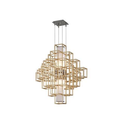 Corbett Lighting Metropolis 2-light LED Gold Leaf 36-inch Pendant
