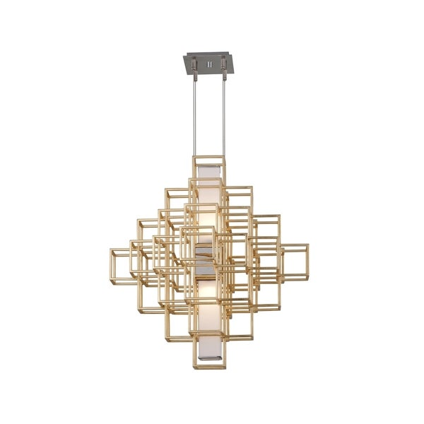 Corbett Lighting Metropolis 2-light LED Gold Leaf 28-inch Pendant