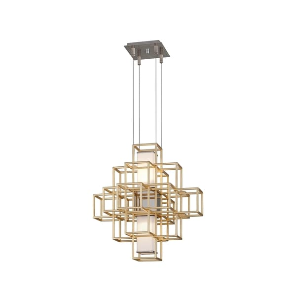 Corbett Lighting Metropolis 2-light LED Gold Leaf 20-inch Pendant