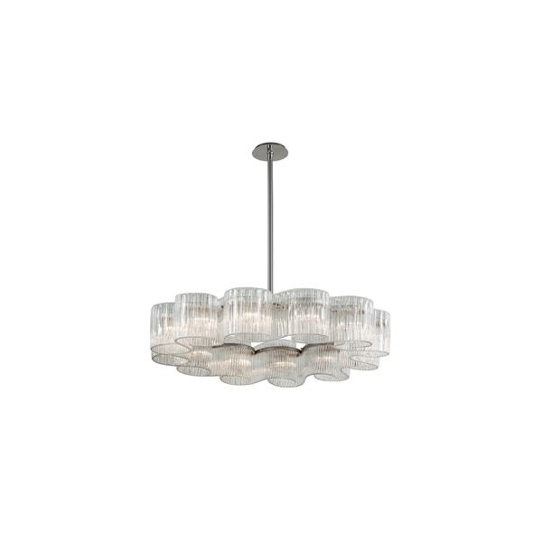 Corbett Lighting Circo 12-light Satin Silver Leaf Pendant