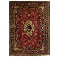 Handmade Herat Oriental Persian Tabriz Wool Rug (Iran) - 10' x 13'5