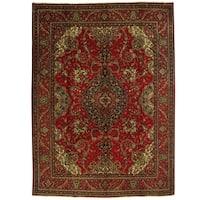 Herat Oriental Persian Hand-knotted Tabriz Wool Rug (9'8 x 13'2)