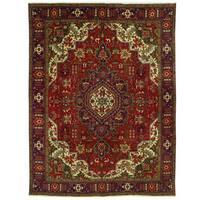 Handmade Herat Oriental Persian Tabriz Wool Rug - 9'7 x 12'8 (Iran)
