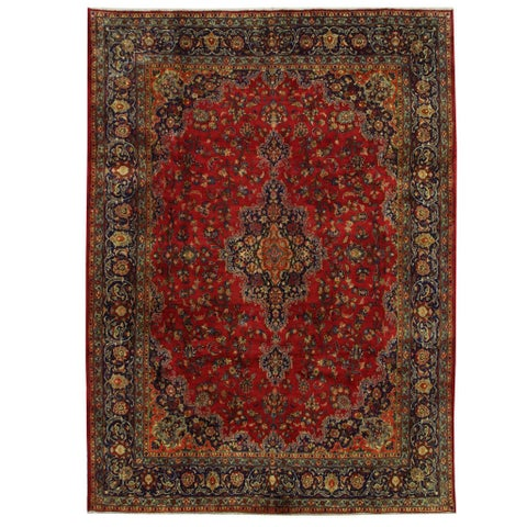 Handmade Herat Oriental Persian Tabriz Wool Rug - 9'5 x 12'10 (Iran)