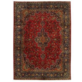Handmade Herat Oriental Persian Tabriz Wool Rug (Iran) - 9'5 x 12'10