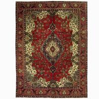 Handmade Herat Oriental Persian Tabriz Wool Rug (Iran) - 9'8 x 13'2