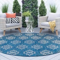 Alise Rugs Colonnade Transitional Geometric Round Area Rug - 7'10 x 7'10