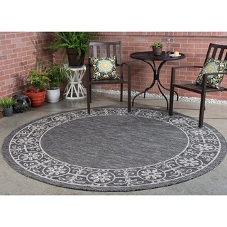 Alise Colonnade Traditional Round Area Rug