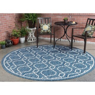 Alise Rugs Colonnade Transitional Geometric Round Area Rug