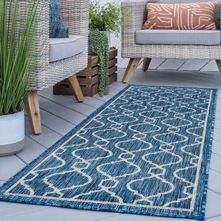 Alise Rugs Colonnade Indigo Transitional Area Rug (2'7'' x 7'3'')