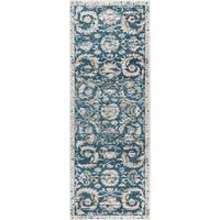 Alise Rugs Parker Navy Transitional Area Rug (2'7'' x 7'3'')