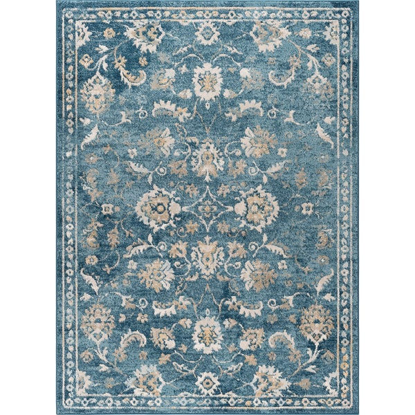 Alise Rugs Parker Indigo Traditional Area Rug (7'10 x 10'3)