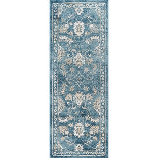 Alise Rugs Parker Indigo Traditional Area Rug (2'7'' x 7'3'')