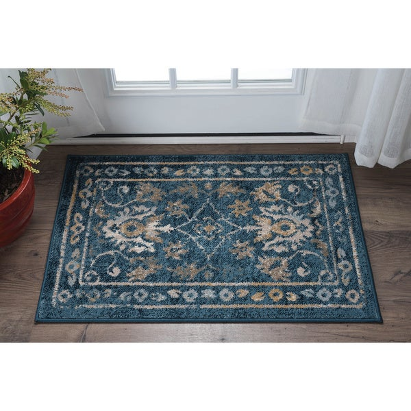 Alise Rugs Parker Indigo Traditional Area Rug (2' x 3')
