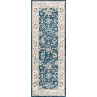 Alise Rugs Parker Navy Traditional Area Rug (2'7'' x 7'3'')