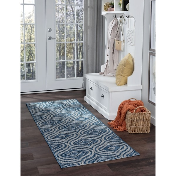 Alise Rugs Colonnade Contemporary Geometric Runner Rug - 2'7 x 7'3