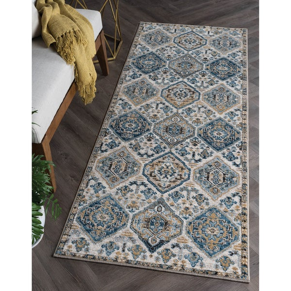 Alise Rugs Parker Multi Transitional Area Rug - 2'7'' x 7'3''